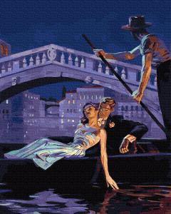 Фото Картины на холсте по номерам, Городской пейзаж KGX 25256 Вечер в Венеции Роспись по номерам на холсте 40х50см