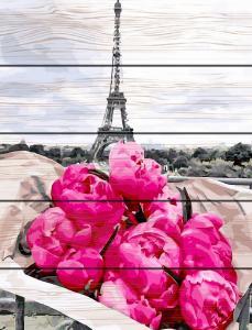 Фото  GXT 31855 Пионы в Париже Картина по номерам на дереве 50х40 см