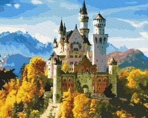 Фото Наборы для вышивания, Вышивка крестом с нанесенной схемой на конву, Пейзаж KGX 36082 Замок под солнцем Роспись по номерам на холсте 40х50см