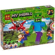 Фото Конструкторы, Конструкторы типа «Лего», Майнкрафт (minecraft) 11263 Конструктор Bela Нападение зомби, 180 дет.