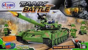 Фото Конструкторы, Конструкторы типа «Лего», Милитари (армия и флот) 1313 Конструктор Боевой танк, 456 дет.