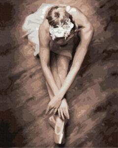 Фото Картины на холсте по номерам, Романтические картины. Люди KGX 31551 Балерина Картина по номерам на холсте 40х50см
