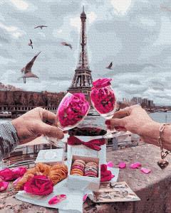 Фото Картины на холсте по номерам, Городской пейзаж KGX 34598 Доброе утро в Париже Картина по номерам на холсте 40х50см