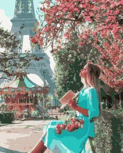 Фото Картины на холсте по номерам, Романтические картины. Люди KGX 37201 Прогулка по Парижу Картина по номерам на холсте 40х50см