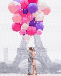 Фото Картины на холсте по номерам, Романтические картины. Люди KGX 34553 Воздушная любовь Картина по номерам  40х50см в коробке