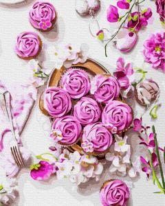 Фото Картины на холсте по номерам, Букеты, Цветы, Натюрморты KGX 37316 Цветочный завтрак Роспись по номерам на холсте 40х50см