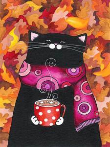 Фото Картины на холсте по номерам, Животные. Птицы. Рыбы... KGX 26581 Осеннее чаепитие Картина по номерам на холсте 40х50см