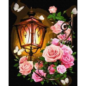 Фото Картины на холсте по номерам, Букеты, Цветы, Натюрморты KGX 35229 Мотыльки в ночи Картина по номерам на холсте 40х50см