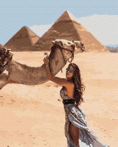 Фото Картины на холсте по номерам, Романтические картины. Люди KGX 37207 Девушка в Египте Картина по номерам на холсте 40х50см