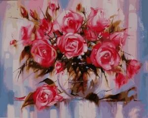 Фото Картины на холсте по номерам, Букеты, Цветы, Натюрморты VP 570