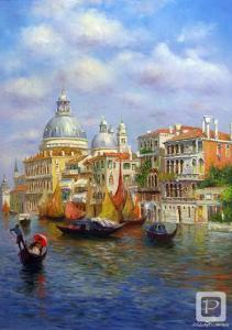 Фото Картины на холсте по номерам, Городской пейзаж MS 411