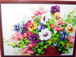 Фото Картины на холсте по номерам, Картины  в пакете (без коробки) 50х40см; 40х40см; 40х30см, Цветы, букеты, натюрморты KHO 143