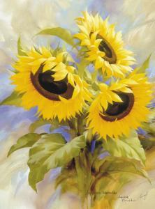 Фото Картины на холсте по номерам, Картины  в пакете (без коробки) 50х40см; 40х40см; 40х30см, Цветы, букеты, натюрморты KHO 2058