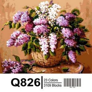 Фото Картины на холсте по номерам, Букеты, Цветы, Натюрморты Q826