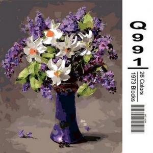 Фото Картины на холсте по номерам, Букеты, Цветы, Натюрморты Q991