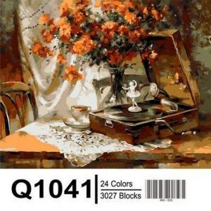 Фото Картины на холсте по номерам, Букеты, Цветы, Натюрморты Q1041