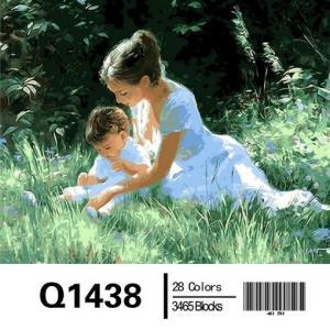 Фото Картины на холсте по номерам, Дети на картине Q1438