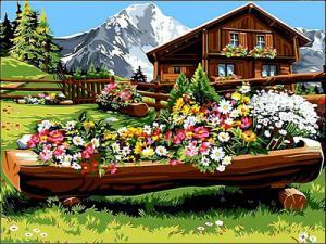 Фото Картины на холсте по номерам, Загородный дом VK 063