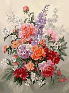 Фото Картины на холсте по номерам, Букеты, Цветы, Натюрморты VK 019