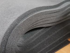 Фото Поролон, синтепон, синтепух (холлофайбер), Темно-серый поролон Поролон листовой темно-серый 1х2м  толщина 20мм