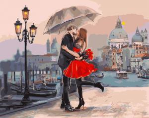 Фото Картины на холсте по номерам, Романтические картины. Люди KGX9991