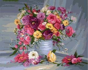 Фото Картины на холсте по номерам, Букеты, Цветы, Натюрморты KGX 7086