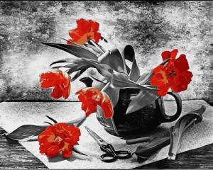 Фото Картины на холсте по номерам, Букеты, Цветы, Натюрморты VP 725 Роспись по номерам на холсте 40х50см