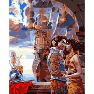 Фото Картины на холсте по номерам, Романтические картины. Люди VP 678 Роспись по номерам на холсте 40х50см