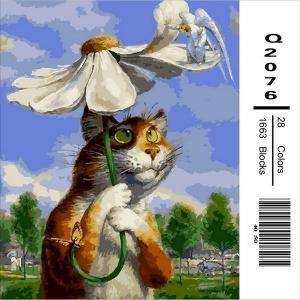 Фото Картины на холсте по номерам, Животные. Птицы. Рыбы... Q 2076 Картина по номерам на холсте 40х50см