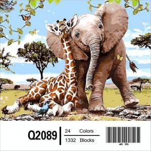 Фото Картины на холсте по номерам, Картины-раскраски по номерам (детские) Q2089