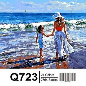 Фото Картины на холсте по номерам, Романтические картины. Люди Q723