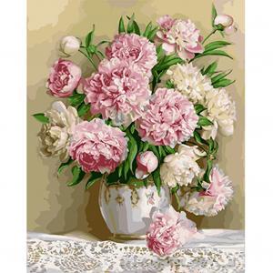 Фото Картины на холсте по номерам, Букеты, Цветы, Натюрморты VP 537