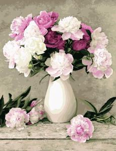 Фото Картины на холсте по номерам, Букеты, Цветы, Натюрморты KG 069