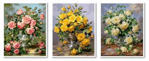 Фото Картины на холсте по номерам, Триптих, диптих VPT 015 (Q1115, 1117, 1118) Роспись по номерам на холсте 50х120см