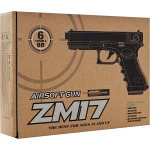 Фото Игрушечное Оружие, Стреляет пластиковыми 6мм  пульками, Металлическое и комбинированное (металл + пластик) оружие Детский игрушечный пистолет  ZM 17 (Glock 18C)