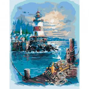 Фото Картины на холсте по номерам, Морской пейзаж KH 2724