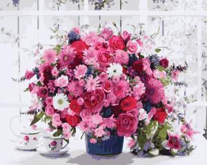 Фото Картины на холсте по номерам, Букеты, Цветы, Натюрморты KGX 8069