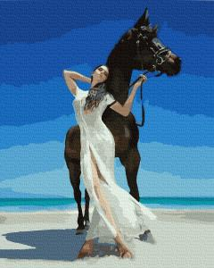 Фото Картины на холсте по номерам, Романтические картины. Люди KGX 32439 Очаровательная прогулка Картина по номерам на холсте 40х50см
