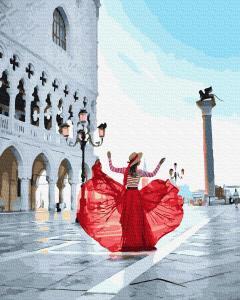 Фото Картины на холсте по номерам, Романтические картины. Люди KGX 38274 Площадь Святого Марка Картина по номерам на холсте 40х50см