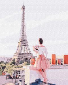 Фото Картины на холсте по номерам, Романтические картины. Люди KGX 38366 Свидание на крыше Картина по номерам на холсте 40х50см