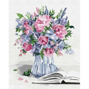 Фото Картины на холсте по номерам, Букеты, Цветы, Натюрморты KH 3100 Букет вдохновения Картина по номерам на холсте 40х50см