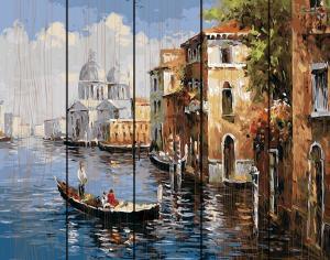 Фото  GXT 8606 Венецианская прогулка Картина по номерам на дереве 50х40 см