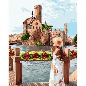 Фото Картины на холсте по номерам, Романтические картины. Люди KH 4697 Живописное место Картина по номерам на холсте 40х50см