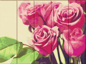 Фото  ASW 125 Розовые розы Картина по номерам на дереве 30х40 см