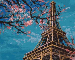 Фото Картины на холсте по номерам, Городской пейзаж KGX 32528 Весна в Париже Картина по номерам на холсте 40х50см