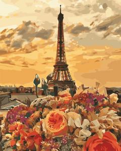 Фото Картины на холсте по номерам, Городской пейзаж AS 0659 Вечерний Париж Картина по номерам на холсте Art Story 40x50см