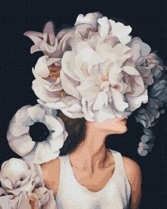 Фото  PGX36769 Девушка-цветок Premium 40х50см