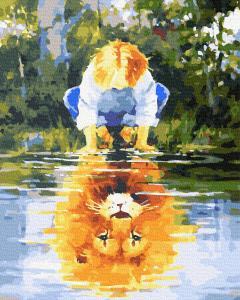 Фото Картины на холсте по номерам, Романтические картины. Люди KGX39163 Сущность  Картина  по номерам на холсте 40х50см