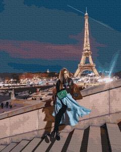 Фото Наборы для вышивания, Вышивка крестом с нанесенной схемой на конву, Пейзаж KGX 38223 Вечерний Париж  Картина по номерам на холсте 40х50см