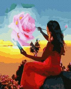 Фото Картины на холсте по номерам, Романтические картины. Люди KGX 39313  Рисование на закате Картина по номерам на холсте 40х50см